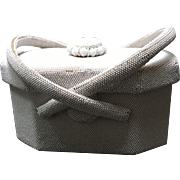 Vintage Hattie Carnegie White Beaded Handbag with Ornate Decoration