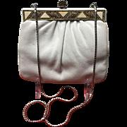 """VIntage Leiber """"Summer""""Handbag with Jeweled Frame"""