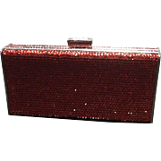 Vintage Leiber Red Minaudiere with Swarovski Crystals NWT