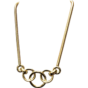 Vintage Grosse Interlocking Circles Necklace