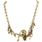 """Vintage Korda """"Thief of Bagdad"""" Choker Necklace with Charms"""