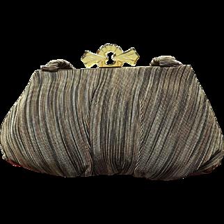 Vintage Corde/Gimp Multi Colored Handbag with Amber Lucite Clasp.
