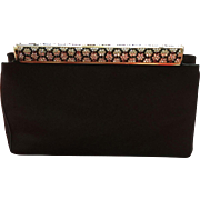 Vintage Leiber Silk Purse adorned with Swarovski Crystals