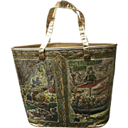 VIntage Huge Delill Tote Bag with Persian Motif