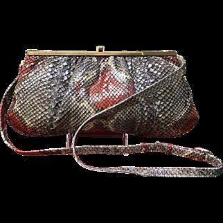 Vintage Colombetti  Python Snakeskin Handbag