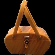Vintage Charles Foster Bakelite/Lucite Caramel Swirl Handbag