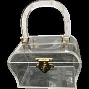 Vintage Delill Clear Lucite Handbag