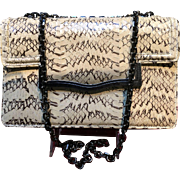 Vintage Judith Leiber Python Envelope Style Handbag