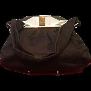 Vintage Josef Handbag with Outrageous Lucite Clasp
