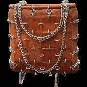 """Vintage Italian """"Funky"""" Mid Century Handbag"""