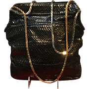 Vintage Leiber Python Handbag with Heavy Chains