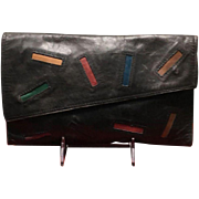 """Vintage Barbara Bolan """"Used"""" Clutch and Wallet"""