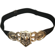 Vintage Alexis Kirk FIVE Snakeskin Belts with Ornate Buckle