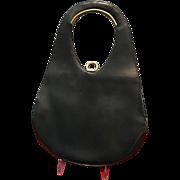 Vintage French Sculptural Leather Handbag