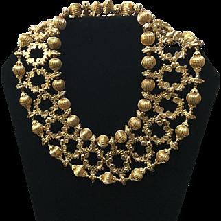 Vintage Delillo Choker Bib Necklace....Statement Maker