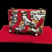 Vintage Christian Lacroix Bazar Suede Handbag with Striking Ornamentation