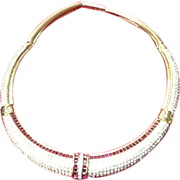 "Vintage Grosse ""Dior"" Designer Choker Collar Necklace"