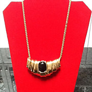 Vintage Ciner Slider Necklace with Gripoix Statement Piece