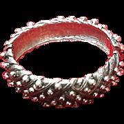 Vintage Designer Carnegie Clamper Modernistic Bracelet