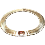 ***SALE***Vintage Ciner Wide Coiled Collar Necklace with Jewels