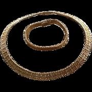 """Vintage Grosse Demi Parure """"Mesh"""" Necklace and Bracelet"""