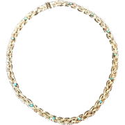Vintage Grosse Choker Necklace with Turquoise Stones