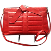 Vintage Ferragamo Bright Red Handbag