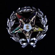 Vintage Eastern Star Enameled Pin