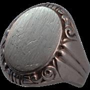 835 Silver Vintage Signet Ring size 9.5