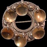 Vintage 830 Silver Solje Norway Wedding Brooch