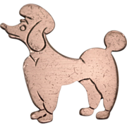 1950's Beau Sterling Silver Poodle Brooch