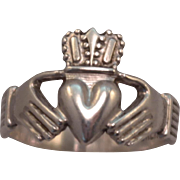 Classic Sterling Silver Claddagh Ring size 7