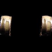Sterling Silver Museum of Modern Art Enameled Reversible Demi-Hoop Earrings