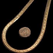 Sterling Silver Vermeil Diamond Cut 4 mm Italian 20 inch Herringbone Necklace