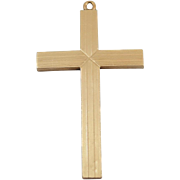 14K Yellow Gold Large Cross Pendant without chain