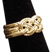 14K Yellow Gold Love Knot ARTCARVED Wedding Ring size 6