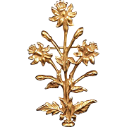 1985 Metropolitan Museum of Art Bold Goldtone Flower Brooch