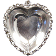 FISHER Vintage Sterling Silver Heart Trinket Dish