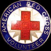 Enameled Red Cross Volunteer Pin