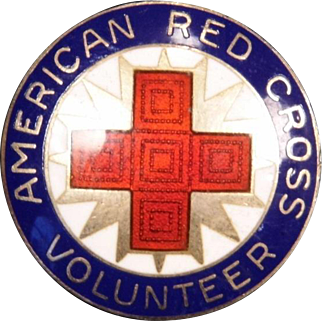 Enameled Red Cross Volunteer Pin