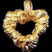 Vintage Christian Lacroix Heart Pendant
