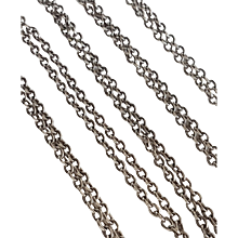 Antique French Silver Long Guard Chain Necklace 56,3 inches N°2