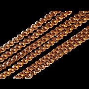 Antique French Art Nouveau Gold Filled Chain Necklace