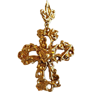 Christian Lacroix Cross Pendant French Haute Couture