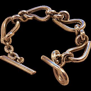 Heavy Vintage French Silver Bracelet