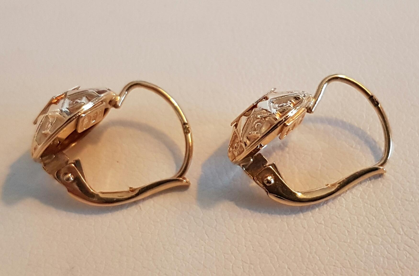 Italian 18k Gold Earrings Tiffany Co 18k Gold Earrings