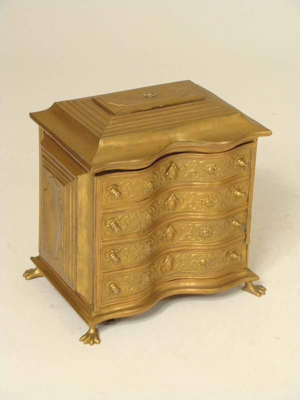 Brass jewelry cabinet