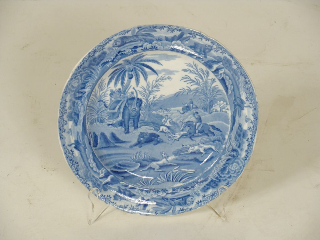 6 Spode Death of the Bear plates