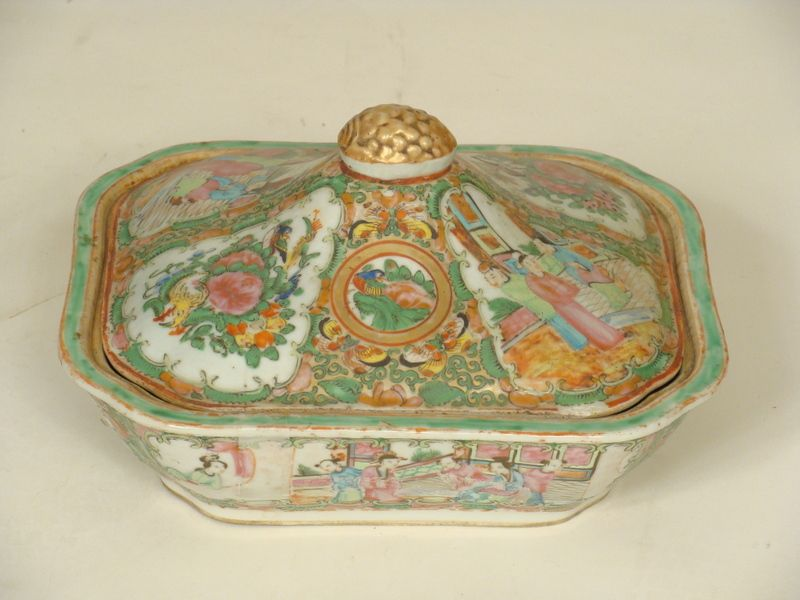 Rose medallion vegetable tureen