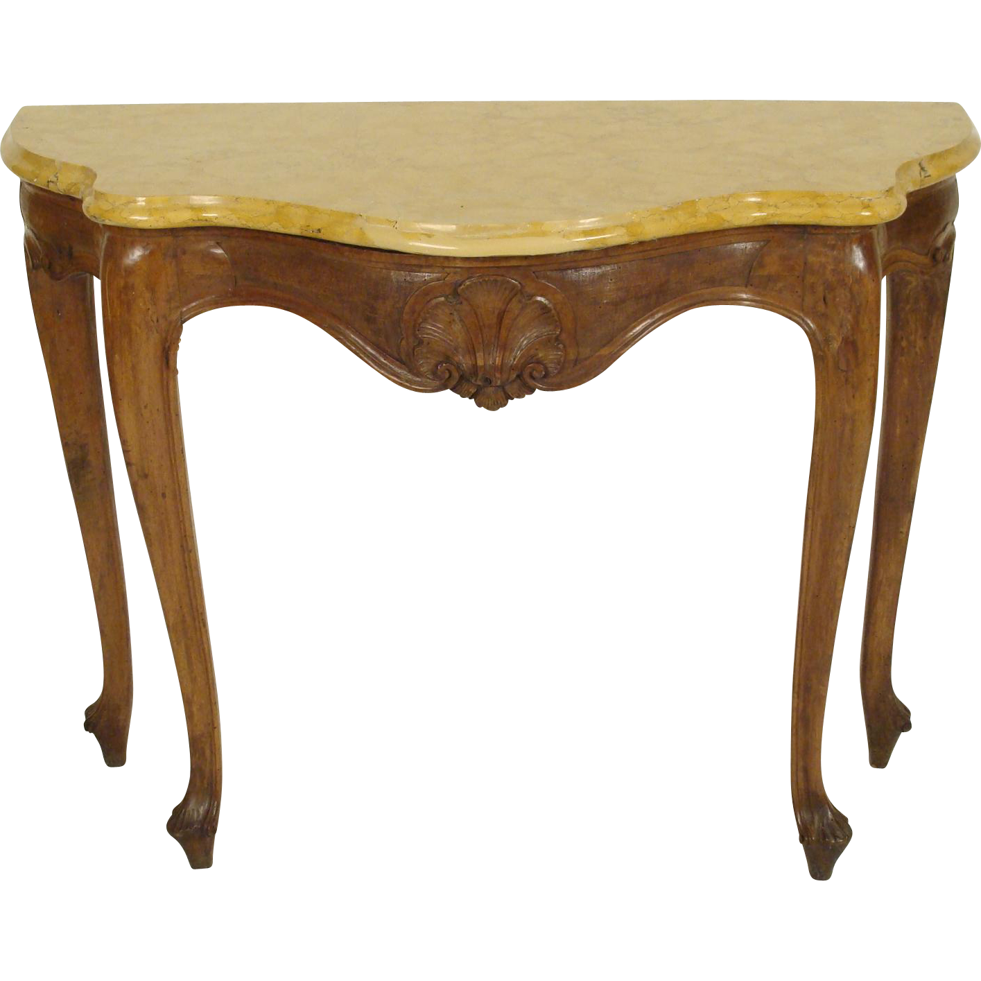 Italian louis xv console table from nicholsonsantiques on - Table louis xv ...